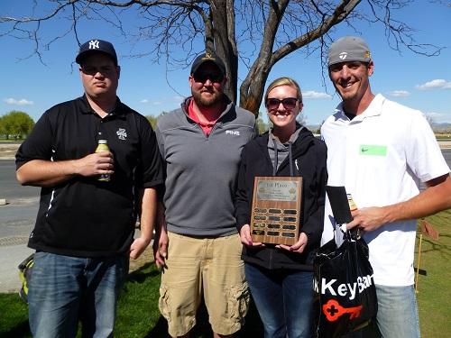 Josh Bork, Jake Youren, Rachel Webb, Ryan Rienstra, 2014 1st Place Winners